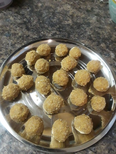 Laddoo made of jaggery and coconut
